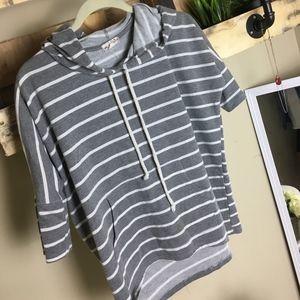 Sweaters - 3/4 Sleeve Pullover Light Hoodie